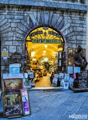 Enter through Cantina Ercolani and descend into gothic and renaissance cellars
