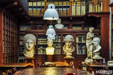The reading room is quite small compared with other libraries in Florence