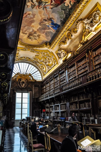 This sumptuous baroque library will dazzle you from the moment you enter