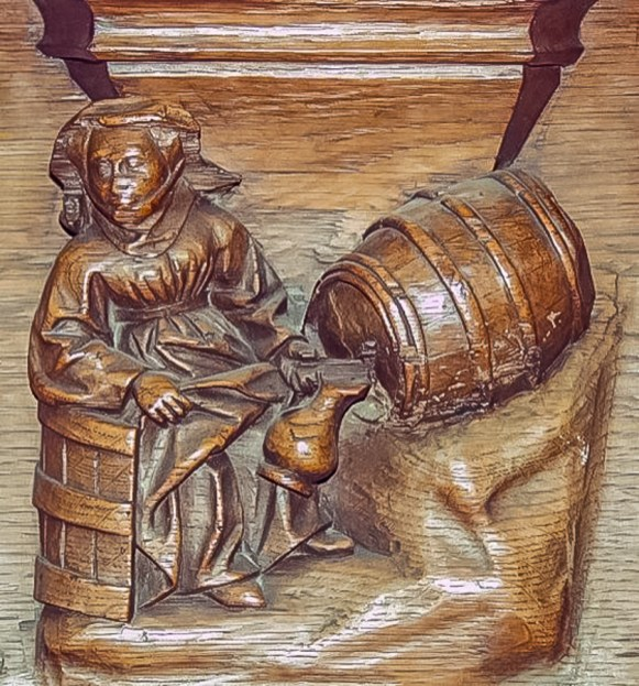 Woman pouring ale, Church of Notre Dame, Breda, Netherlands