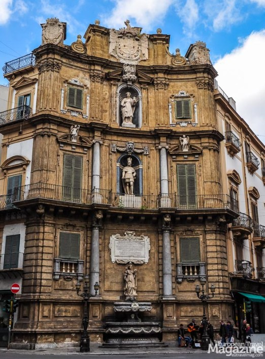 Sicily used to be the Kingdom of Sicily and one of the richest regions of (present) Italy. The baroque architecture is the remainder of this glorious past