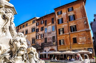 While Piazza Navona is exclusively populated by tourists, this square still belongs to the Romans and has a wonderful boisterous feel about it