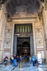 When you enter the very Roman-looking portico with its imposing columns, you enter the rotunda, a structure not commonly found in Europe in this large scale, with a so-called oculus in the top.