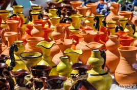 Clay jugs are perfect for keeping liquids cool because the porous clay acts as an evaporative cooler