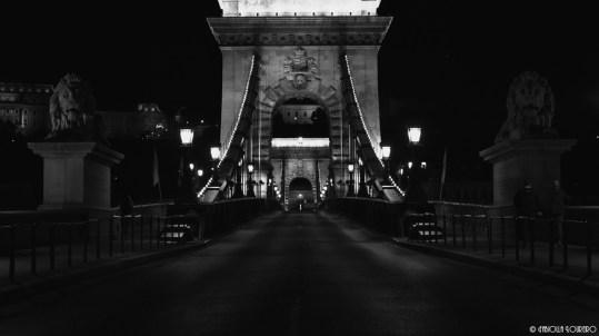 Chain Bridge late at night