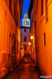 The bell tower of the Cathedral is a steady point of reference when navigating the steep, labyrinthine alleyways