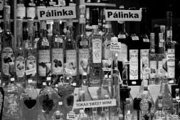 Many options of Pálinka and Tokaji wine at the Great Market Hall