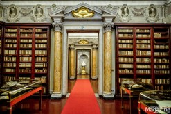 A bust of Lorenzo Corsini presides at the end of the library hall, and so he still watches over his literary legacy