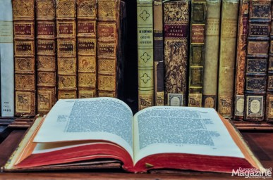 The ancient books certainly look dashing in these worthy surroundings