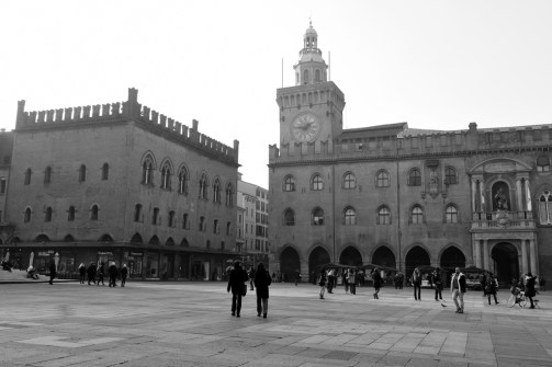 Palazzo Comunale, with the Clock Tower and Pope Gregorio XIII statue