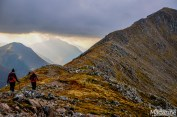 The walk along the narrow ridge is exhilarating and the views of Loch Etive and its Glen from the top is epic