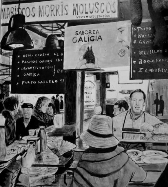 drawn at the stall