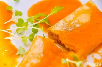 Cannelloni Alheira with 5 tomato sauces