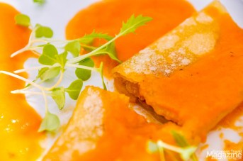 Cannelloni Alheira with 5 tomato sauces