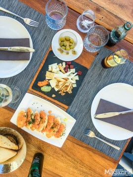 "We lunched ""Spanish style""; sharing 4 tapas or entradas among 2 persons"