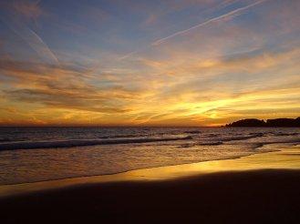 Sunset leading into twilight.