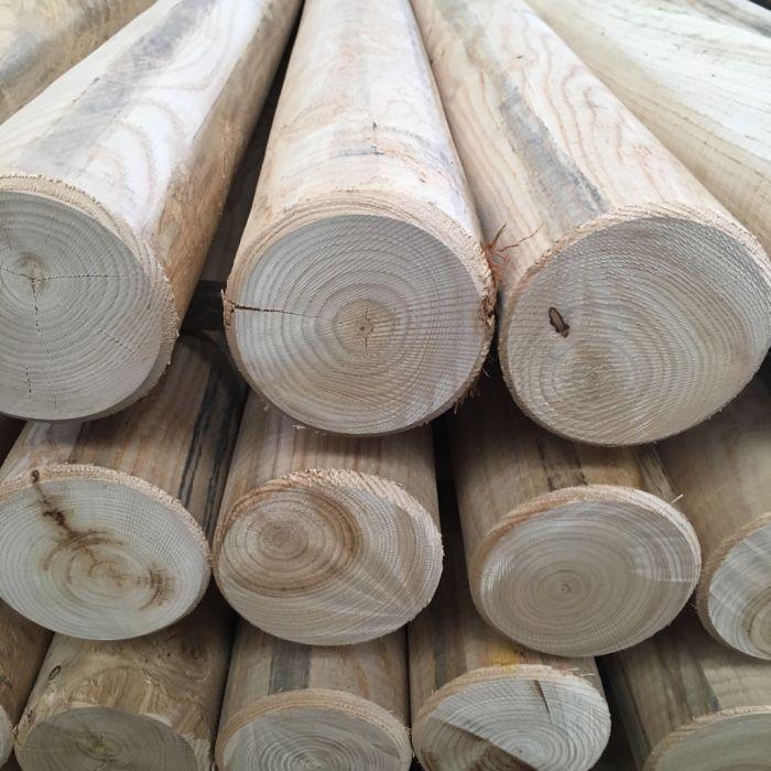 rondin bois chataignier classe 4 naturel 140 1500
