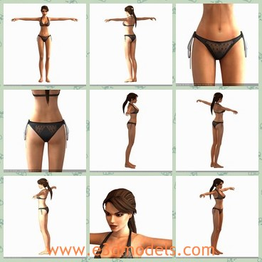 3d Model The Sexy Woman