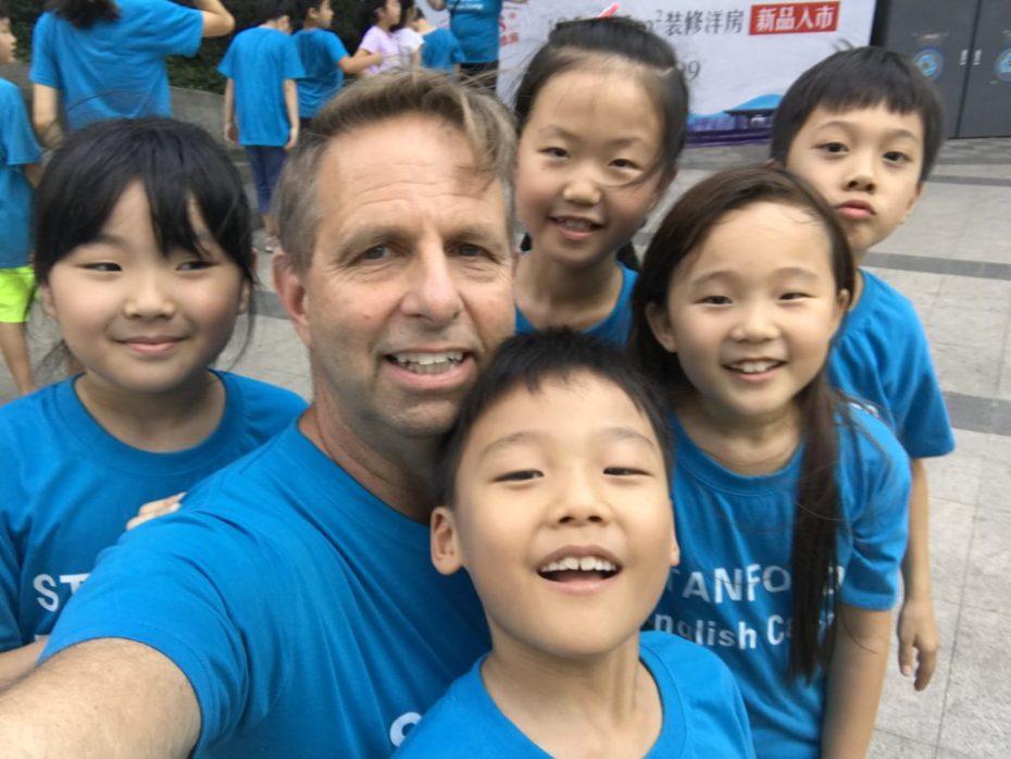 the blue shirt kids!