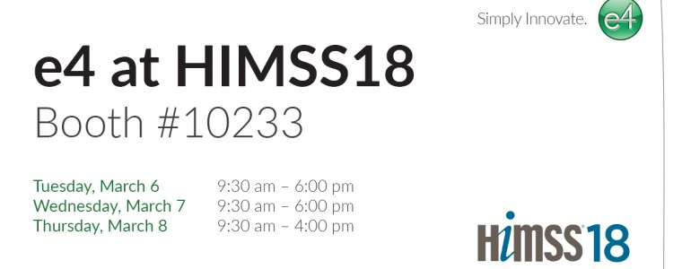 e4 at HIMSS18