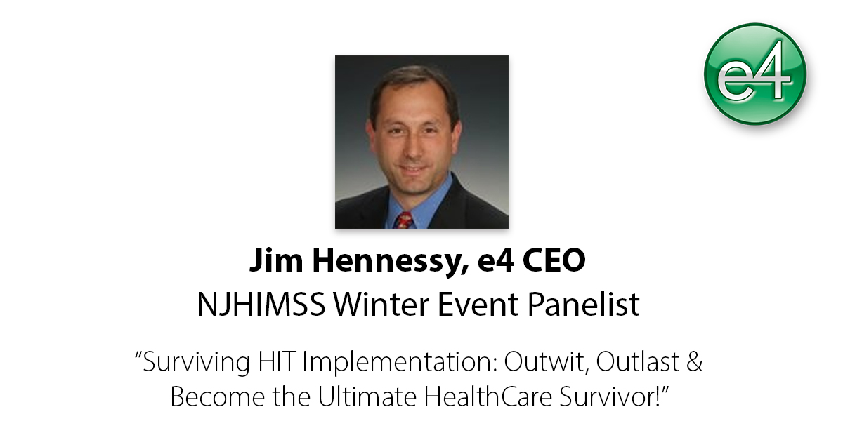 Jim Hennessy NJHIMSS Winter Event