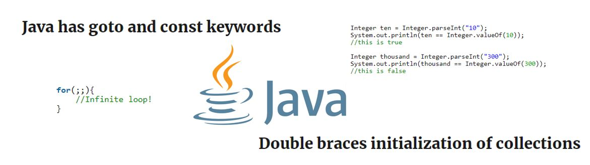 Java surprises – Unexpected behaviours and features