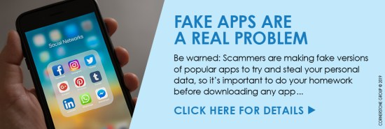 FAKE APPS ARE REAL PROBLEM - See The Details Download Graphics to View