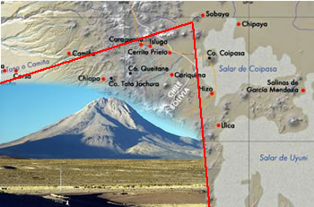 Resultado de imagen para sabaya, frontera entre bolivia y chile