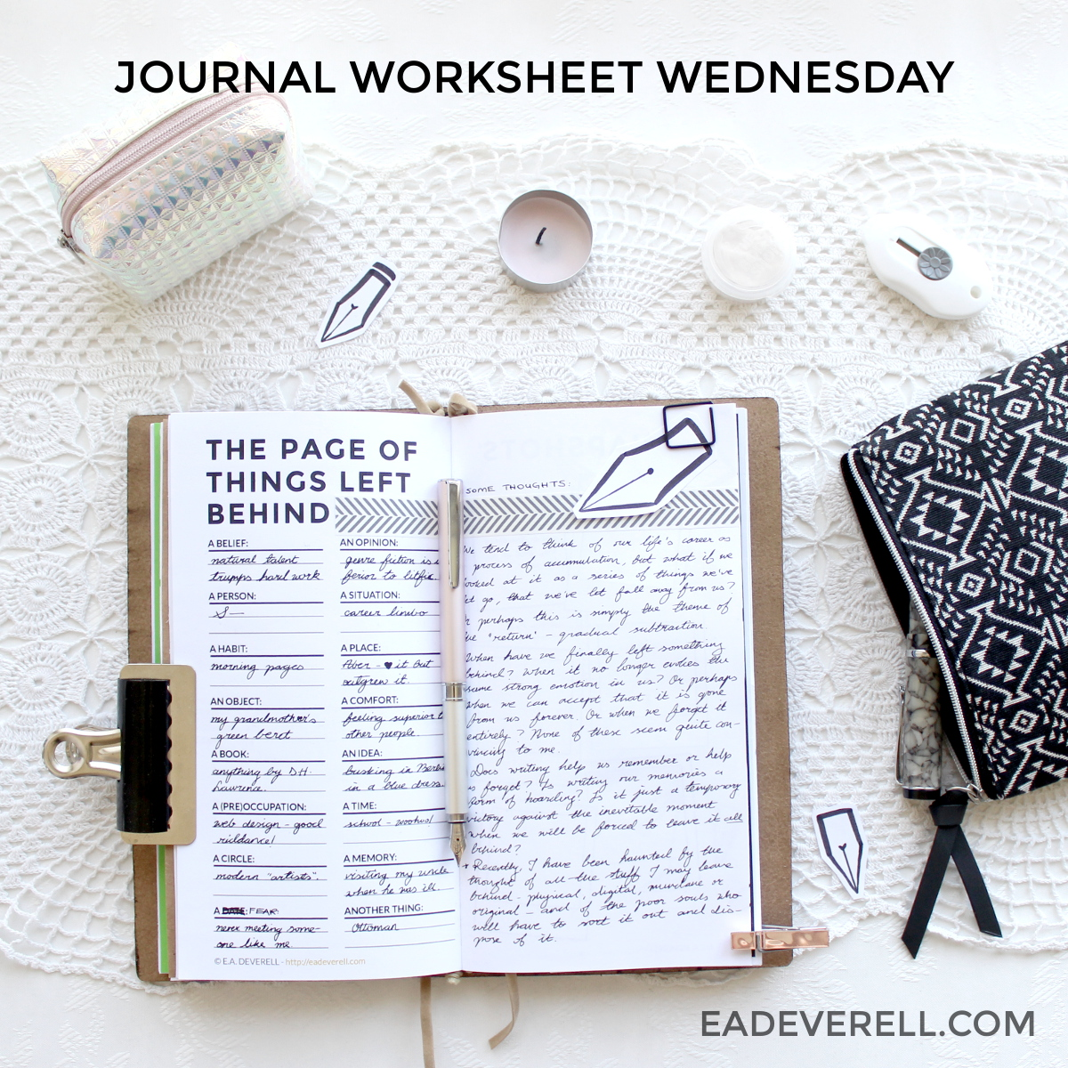 Snapshots Journal Worksheet Wednesday