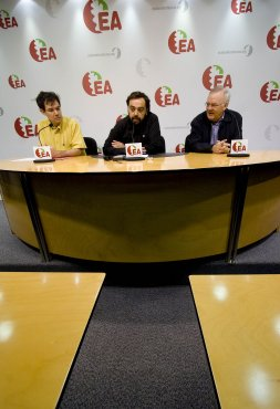 DV. Ricardo Burutarán, Oscar Usetxi y Enrique Arana. / DAVID APREA