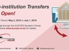KUCCPS Inter-Institution Transfer Application - 2019/2020