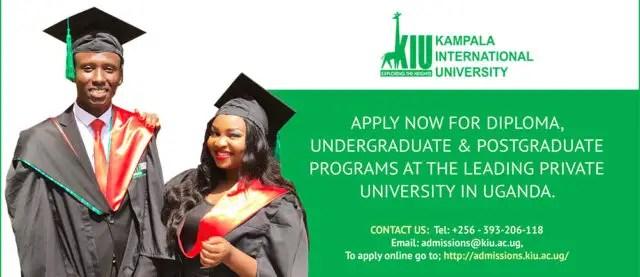 Kampala International University, KIU Admission and Application Forms: 2019/2020