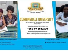 Sunningdale University, SU Zambia Admission and Application Forms: 2019/2020 - How to Apply?