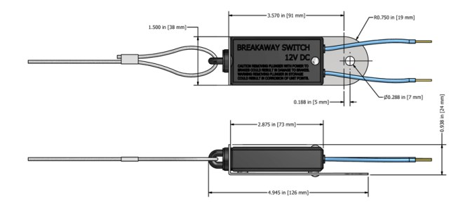 bargman breakaway switch wiring diagram  motobravo scooter