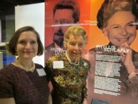 Phyllis & Anne with Phyllis's exhibit, 2014