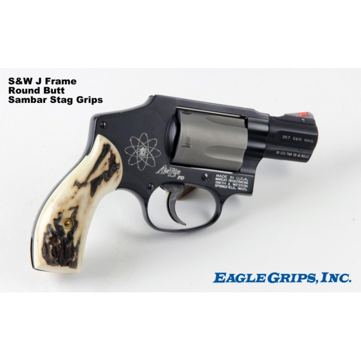 Smith Wesson J Frame Stag Grips   Framess.co