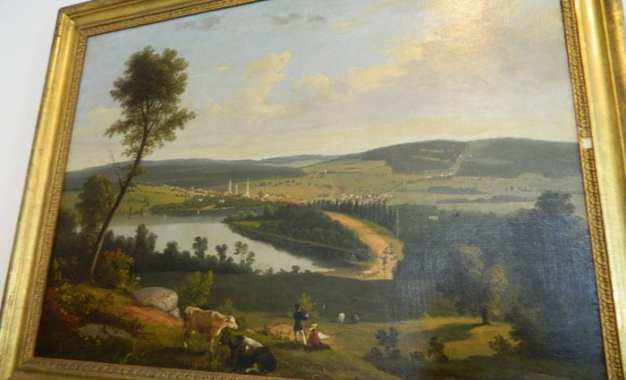 Library museum acquires historic Boardman painting of Cazenovia