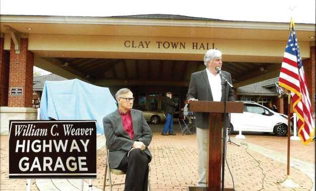 Clay highway garage dedicated to Weaver