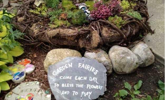 Fairy House Building Workshop in the Secret Garden