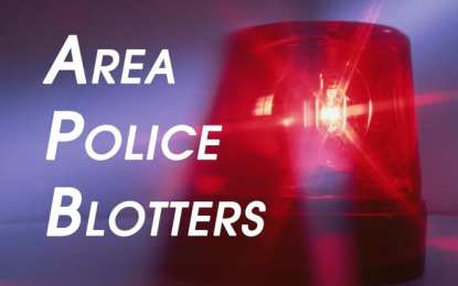 Area Police Blotters: Weeks of Sept. 27 to Oct. 11