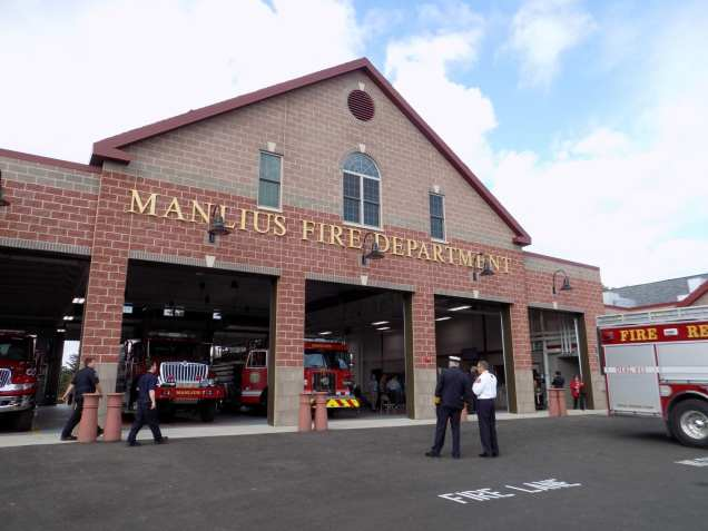 The new 26,000 square-foot one-floor station for the Manlius Fire Department recently opened on the corner of Enders and Cazenovia Road in the town of Manlius. (Hayleigh Gowans)