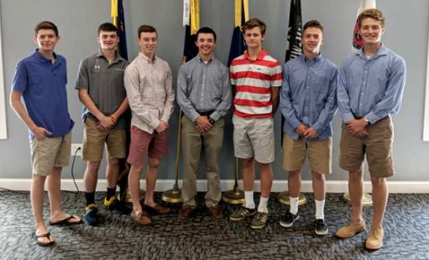 Seven from Caz named to American Legion Boys' State program