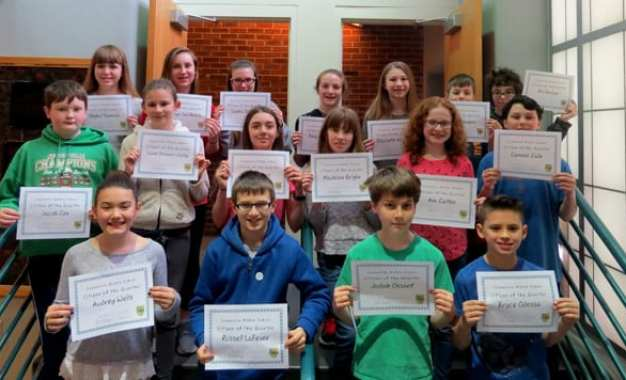Middle school third quarter Citizens of the Quarter announced