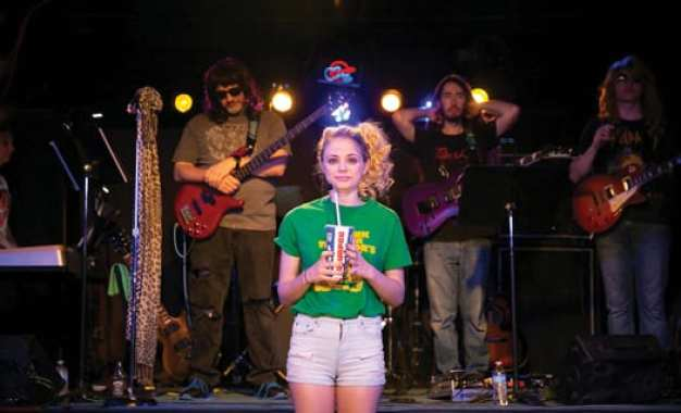 "THEATRE REVIEW: Hail Hali! J-D alumna Hali Greenhouse gets down and dirty in ""Rock of Ages"""