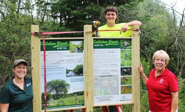New welcome kiosk unveiled at Callahan Brook Nature Trail in Morrisville
