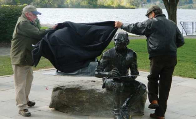 CAZENOVIA FOUNDER'S DAY TRIBUTE: Statue of town founder John Lincklaen unveiled in Lakeland Park