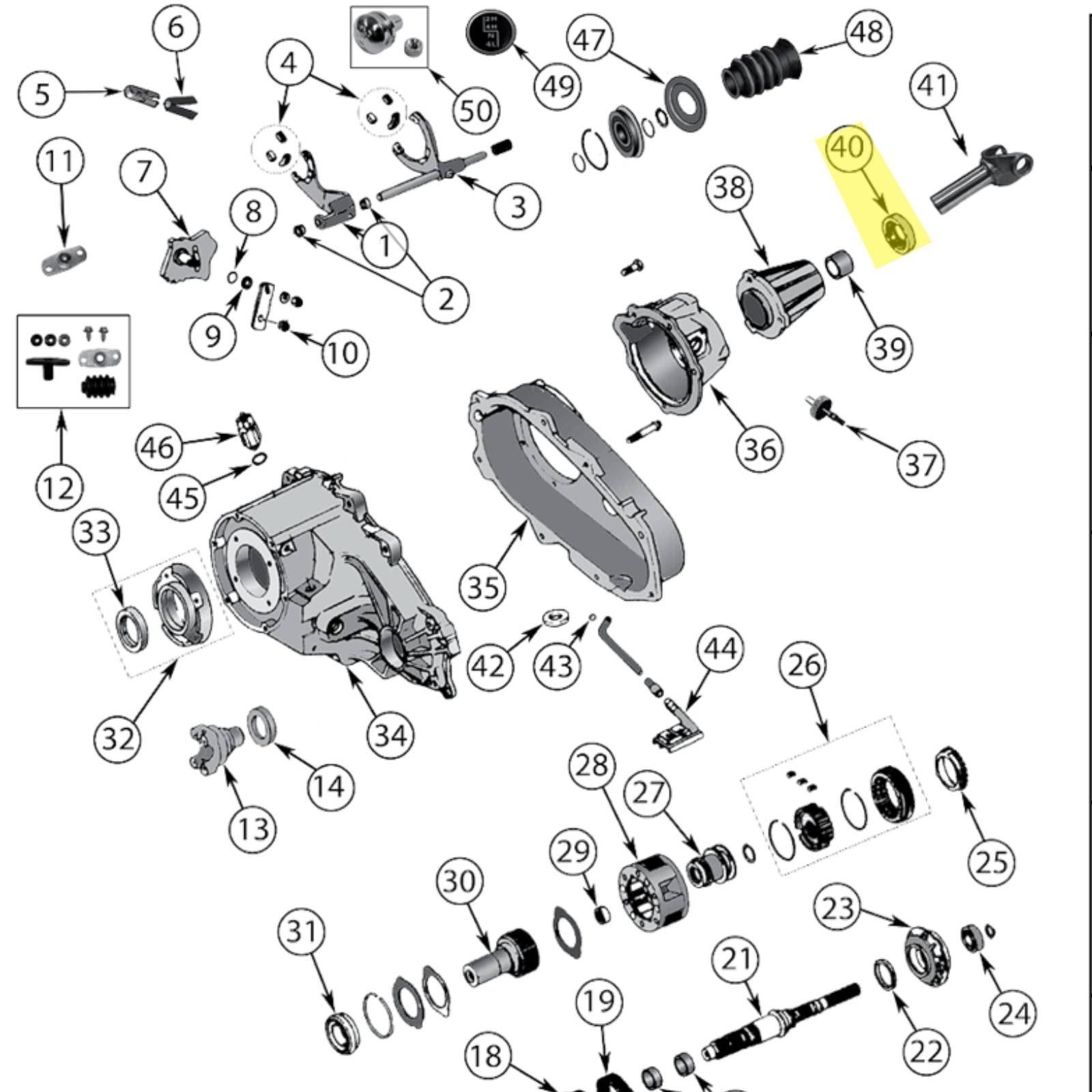 Paraolio Entrata Tra Riduttore E Cambio Np231 91 95 Jeep
