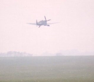 Spitfire Take off from Duxford