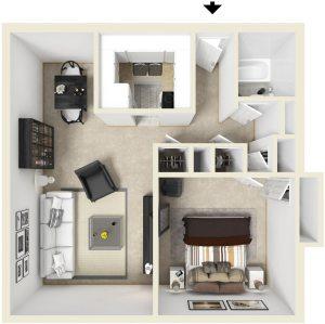 1 Bed / 1 Bath / 620 ft² / Deposit: $300 / Rent: $650