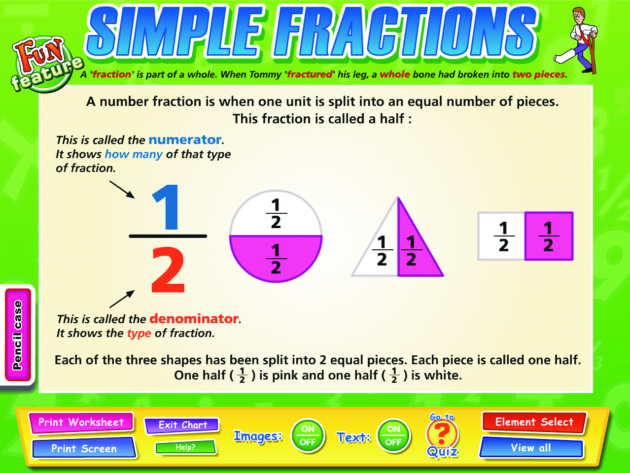 Fractions Decimals Percentages Interactive Whiteboard Chart Set